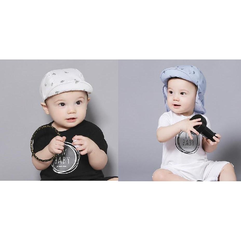 帽子棒球帽遮陽帽自行車印花兩用可拆式寶寶帽太陽帽鴨舌帽童帽
