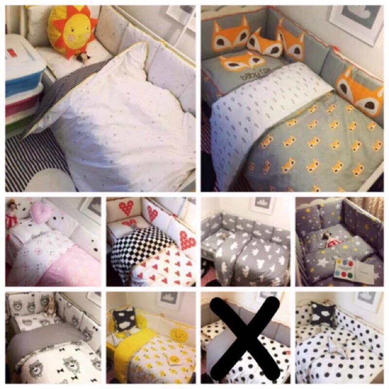 免等日雜zaka 北歐風ikea 寶寶嬰兒床床圍寶寶床圍