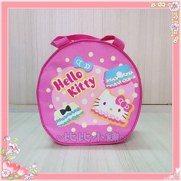 ~比比小舖~兒童餐具HELLO KITTY 妖怪手錶拉拉熊米奇奇奇蒂蒂餐袋便當袋手提袋才藝