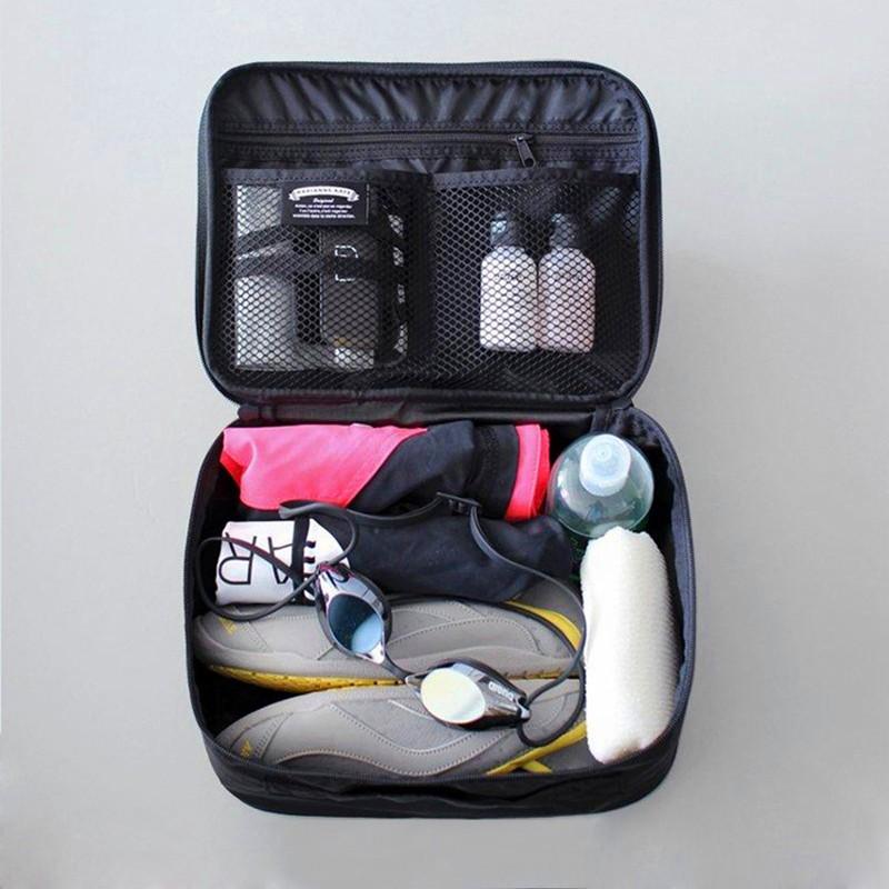 可愛卡通行李收納包小號粉紅色的風格 可擕式小旅行行李存儲多維資料集管理器袋衣服包裝