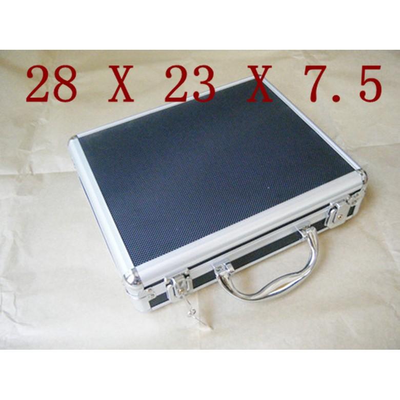 WLder 28cm 鋁製短槍盒附鎖鑰匙BB 槍BB 彈手槍盒收納盒收納箱手提箱槍箱鋁槍盒