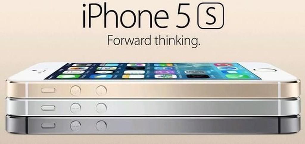 送行動電源皮套鋼化膜APPLE iphone 5S 64G 黑色金色 指紋身分識別