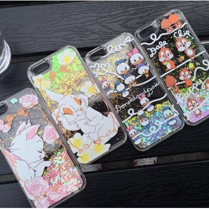 可愛透明液體流沙硬殼閃粉亮片黛西唐老鴨瑪麗貓兔子奇奇蒂蒂兔子iPhone6s 保護殼iPh