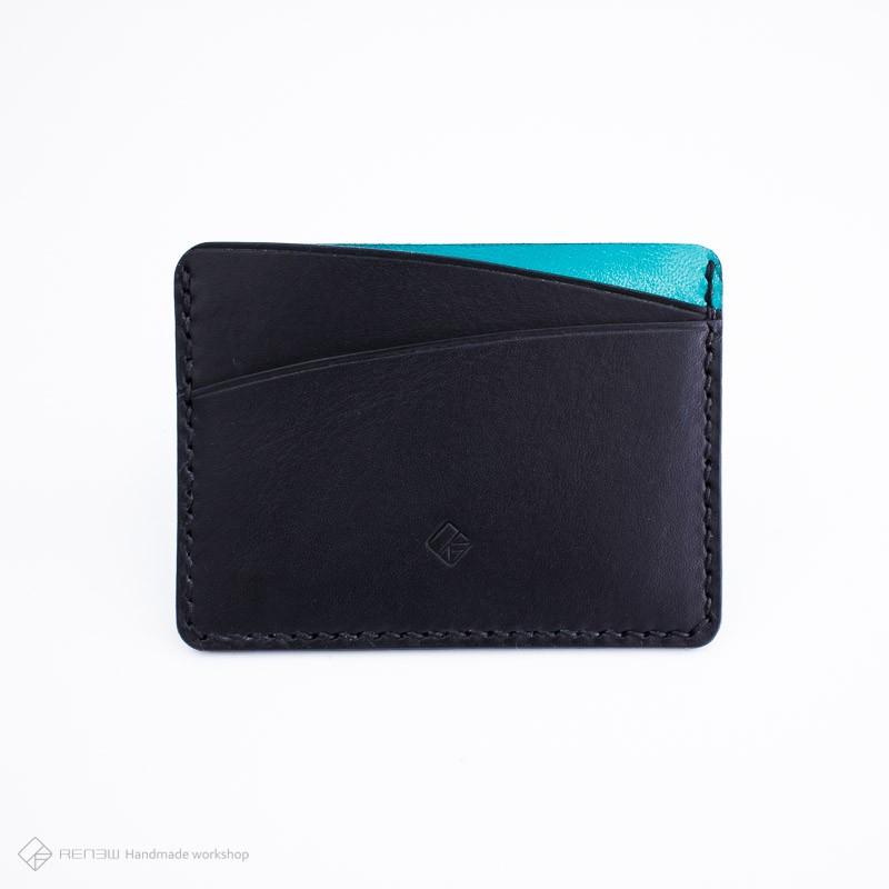 RENEW 植鞣革手縫卡片夾、輕便皮夾