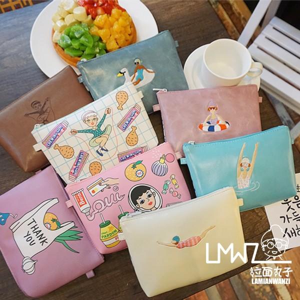 AC 韓國可愛卡通 透明學生小清新女原宿軟妹單肩斜跨包小包迷你包