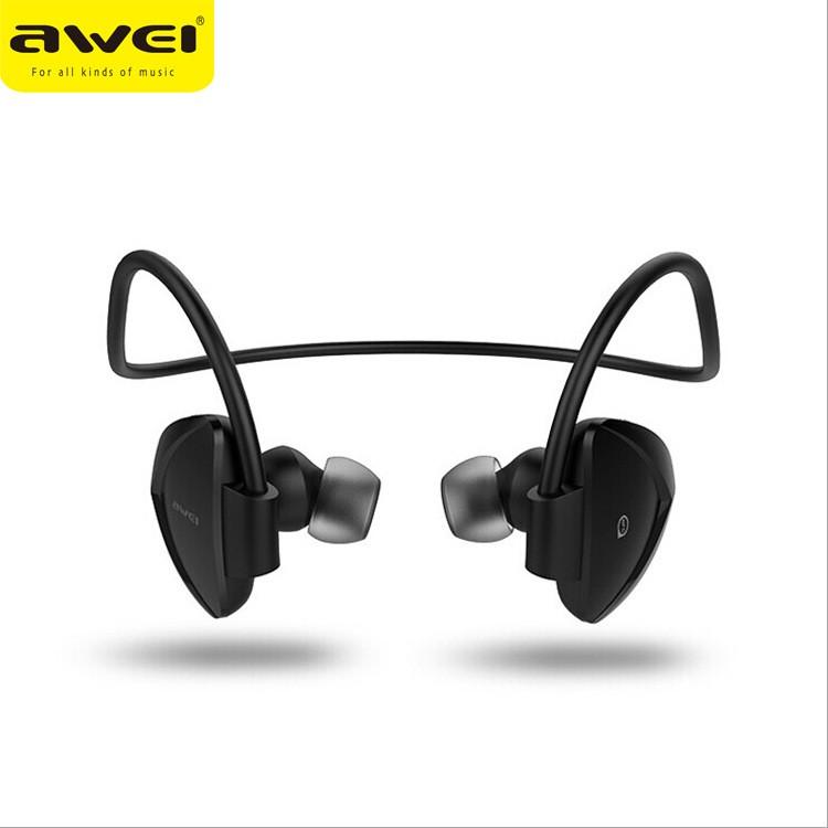 跨境專供Awei 用維A840BL  無線后掛式立體聲藍牙耳機4 0 磁吸無線無線藍芽耳機