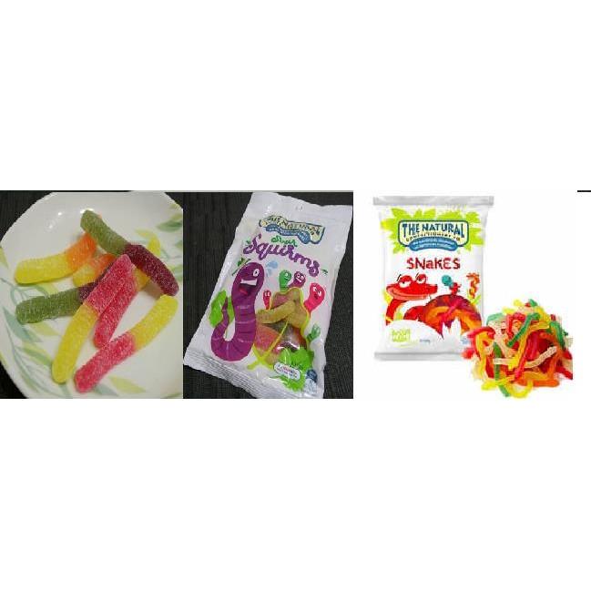 澳洲天然蟲蟲軟糖240g 蛇軟糖蚯蚓軟糖不添加人工色素或香料