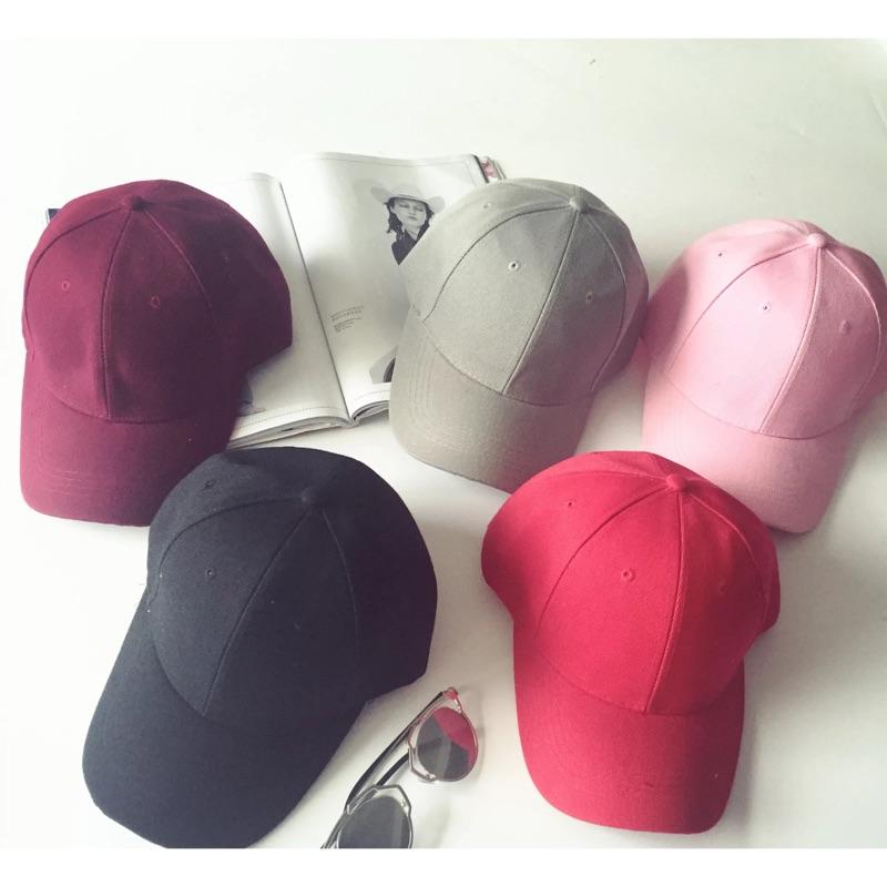 ~貝莉潮流~ 超簡約純色鴨舌帽遮陽帽男士女士高爾夫棒球帽百搭帽子