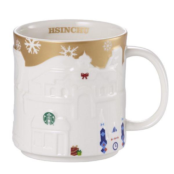 ~星巴克~金色耶誕浮雕新竹城市杯