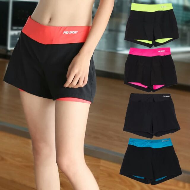 2016  短褲女跑步健身房瑜伽速干寬鬆顯瘦防走光短褲 褲