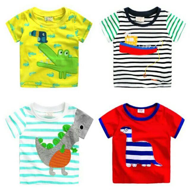 男童貼布短袖T 恤2016   兒童寶寶棉質上衣(共8 款)