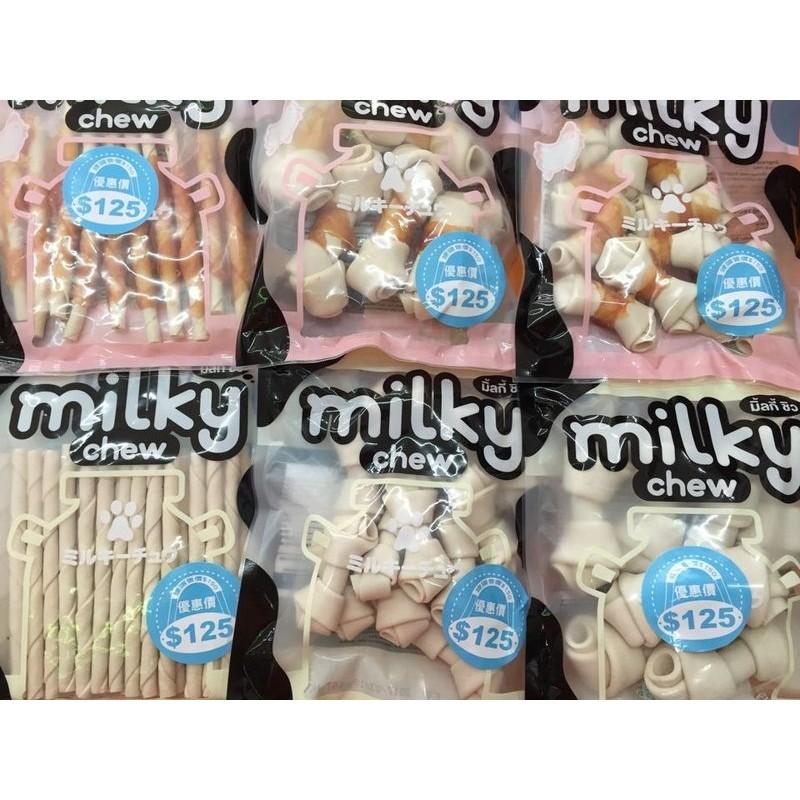 Milky Chew 牛奶軟皮骨系列牛奶骨牛皮骨軟雞肉捲牛皮125