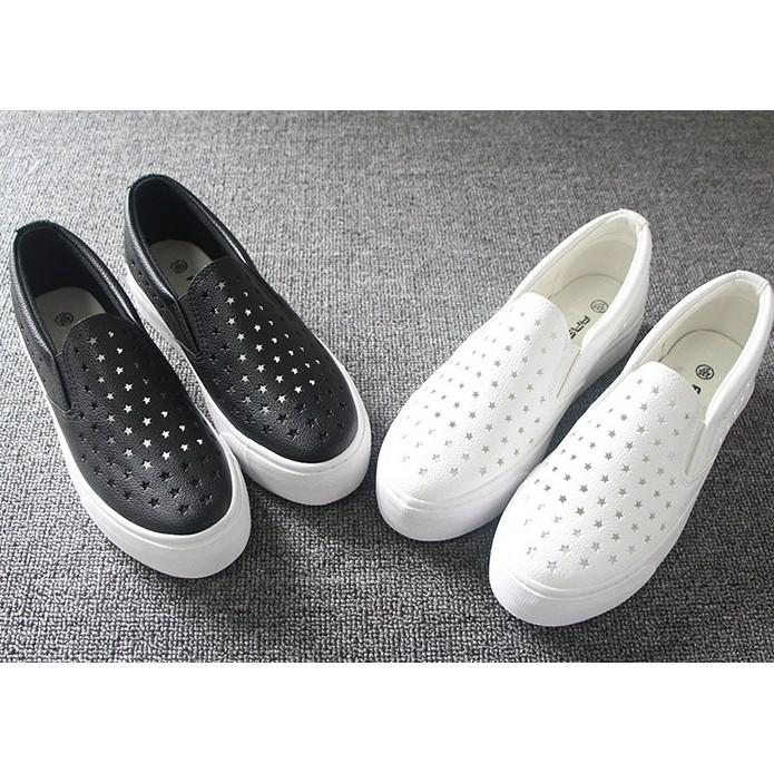 下殺388 鏤空透氣皮革鞋女鞋平底厚底懶人鞋舒適樂福鞋學生小白鞋板鞋休閒鞋