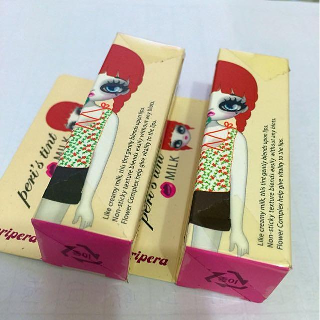 韓國帶回Peripera 牛奶粉嫩唇蜜兩隻一起賣