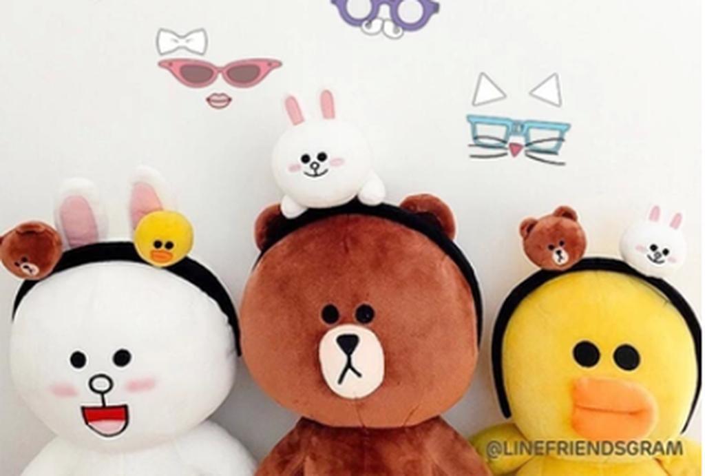 三件一套可買單件韓國Line Friends 卡通可愛 髮箍 髮圈髮夾髮飾