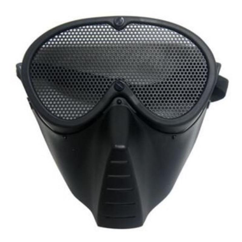 慶開幕衝 野戰鐵網防護面罩面具可配戴眼鏡(NERF 護目鏡生存遊戲水彈槍水彈團康子彈野戰)