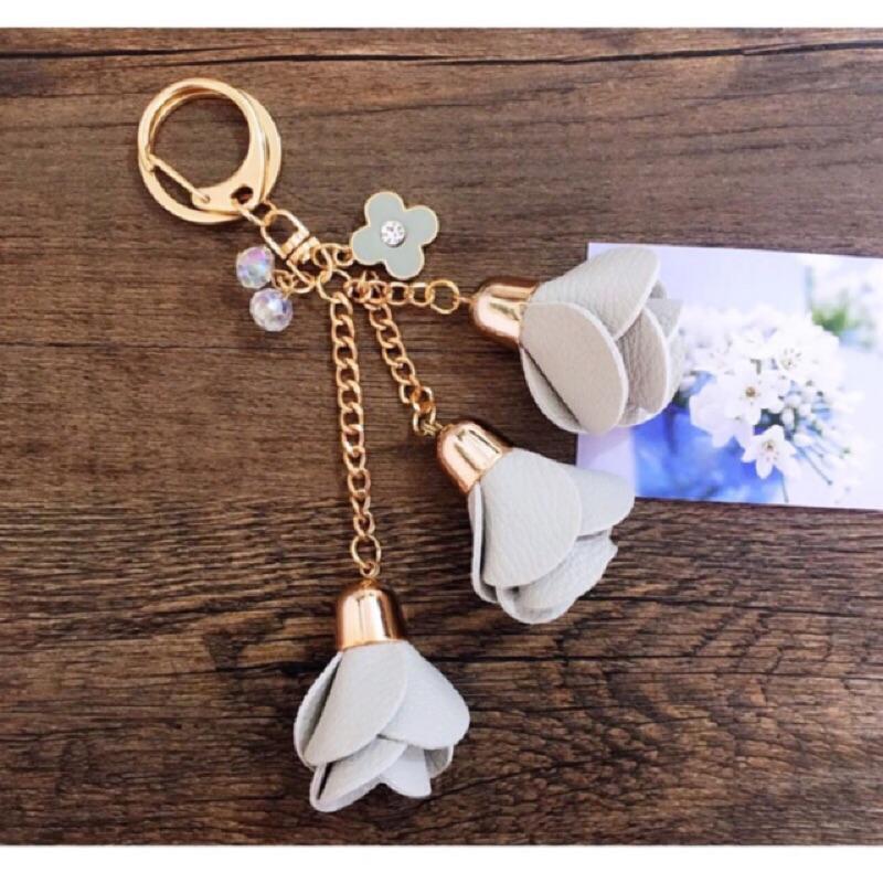 立體 多彩玫瑰花水鑽鑰匙圈包包掛飾手機掛飾吊飾飾品裝飾