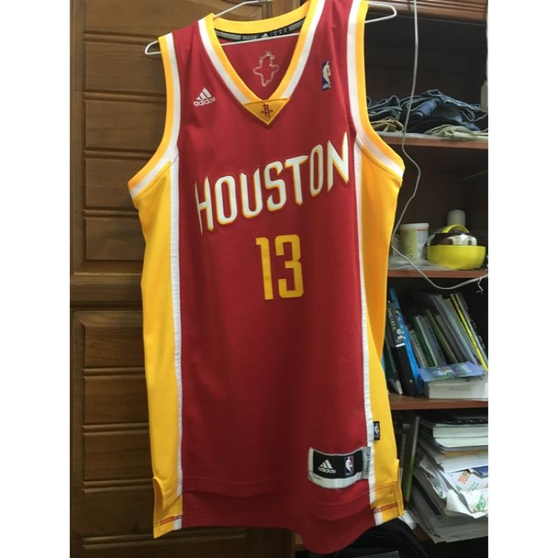 NBA adidas jersey 球衣James Harden 大鬍子客場黃邊紅底黃字