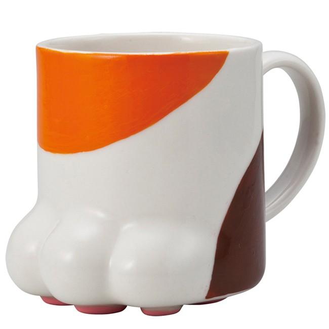 sunart 肉球馬克杯三色貓,討喜可愛又療癒,絕對是您下午茶的好夥伴 貓腳掌