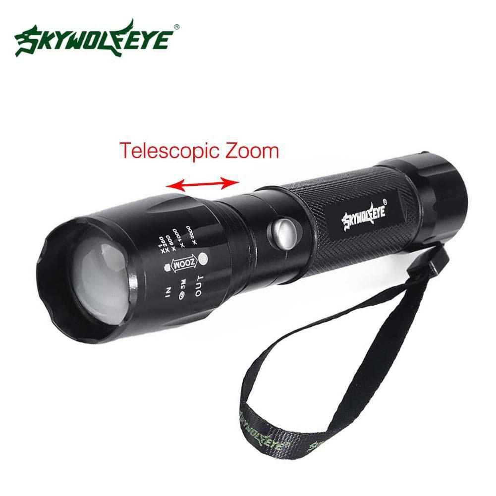 6000LM T6 LED 充電手電筒18650