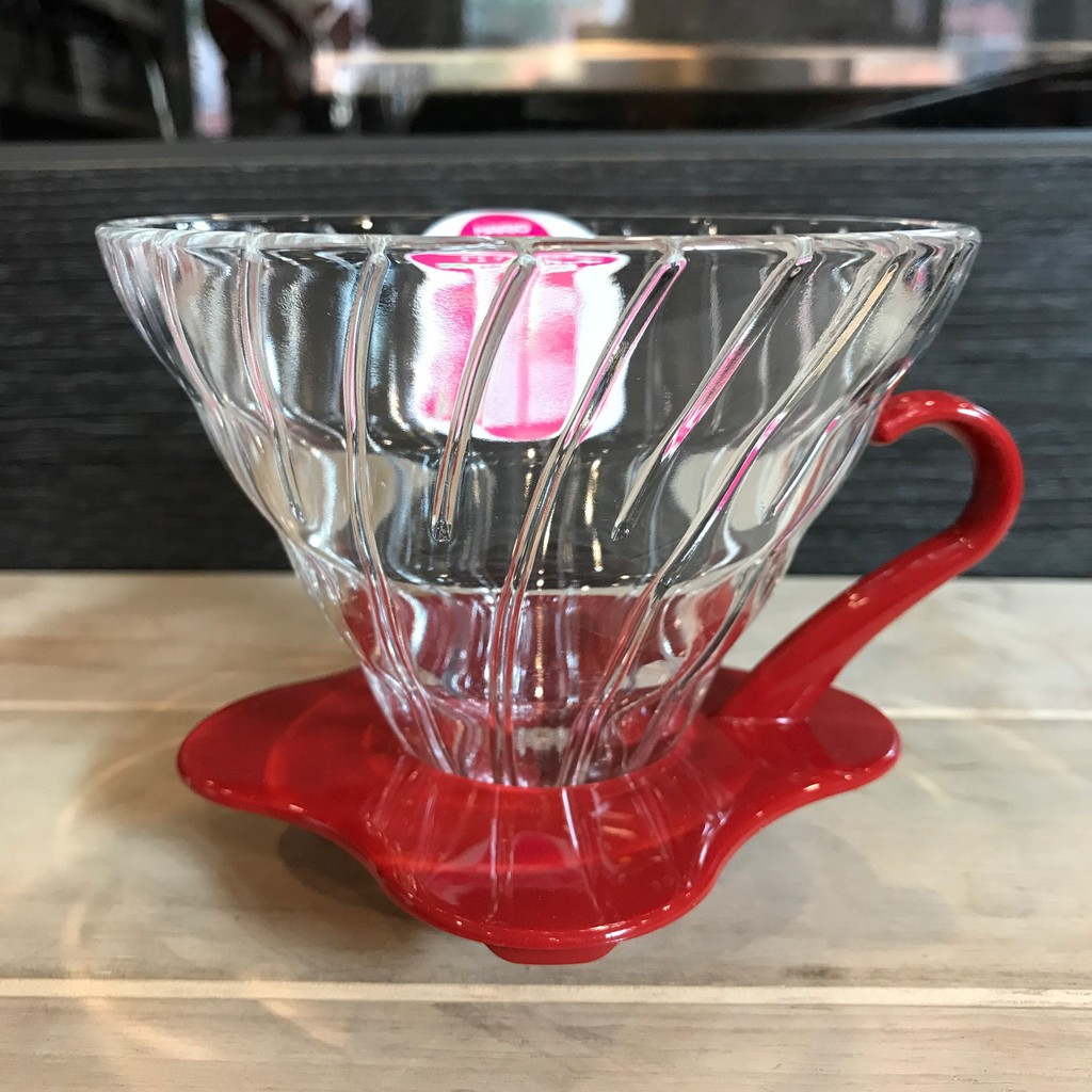 HARIO V60 玻璃濾杯1 4 杯用VDG 02 紅手沖咖啡