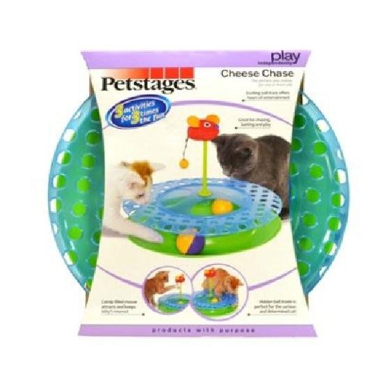 美國Petstages 乳酪上的老鼠軌道球 軌道球輪盤玩具 單獨或多隻貓咪一起玩耍520