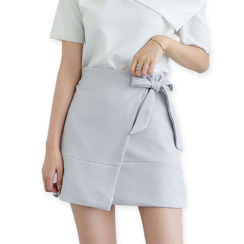 C081  女裝繫帶不規則半身裙