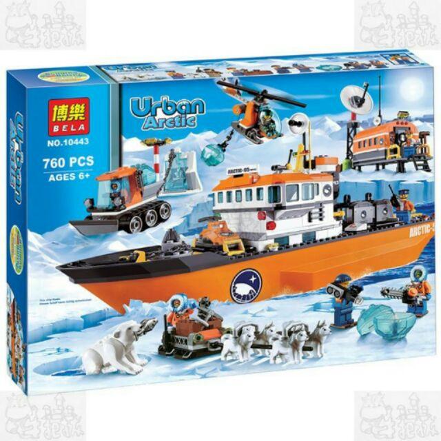 ~牛把拔~~ ~~博樂10443 ~雪地警察系列北極破冰船隊非LEGO 與樂高積木相容