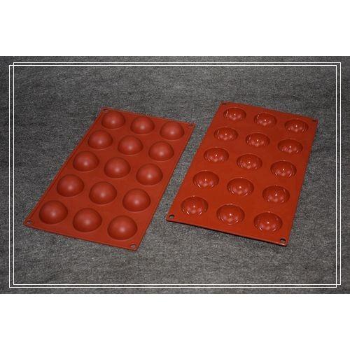 15 連乳酪球矽膠模小半圓矽膠巧克力模矽膠蛋糕模具果凍模冰塊模 皂模◆◆大祺 ◆◆