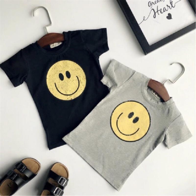 潮流 微笑笑臉T 笑臉短袖上衣男童女童小童
