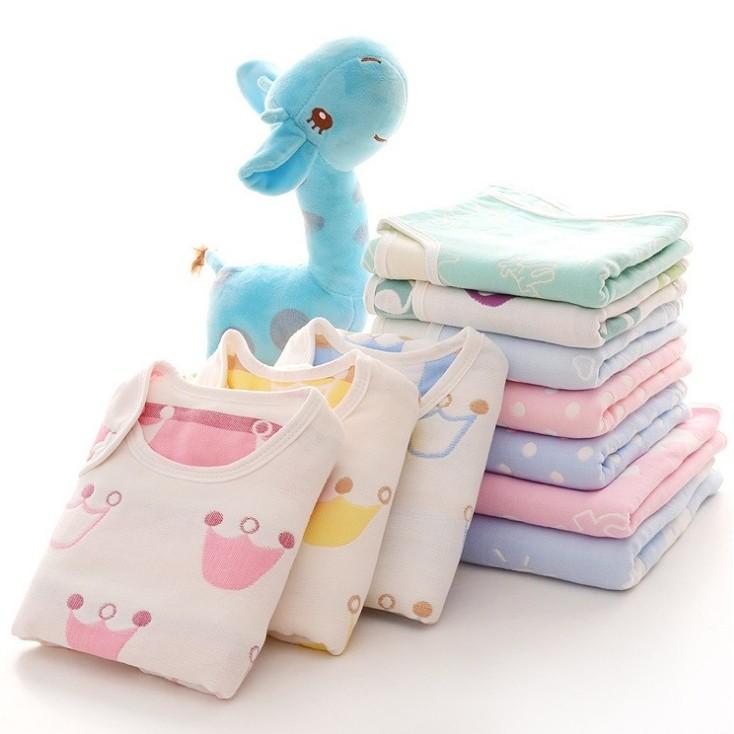 hoppetta 同款純棉六層紗布新生嬰兒蘑菇睡袋防踢被