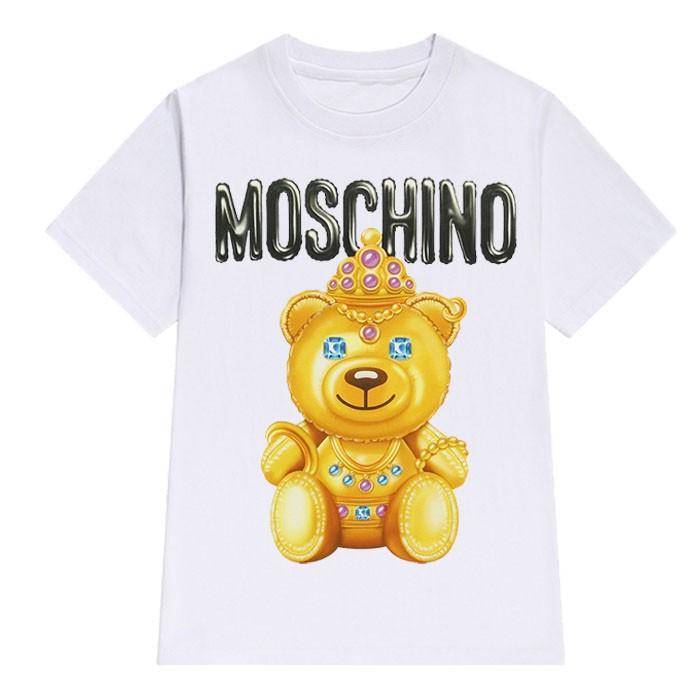 Moschino 白色皇冠熊小熊警官彩色白色T 恤