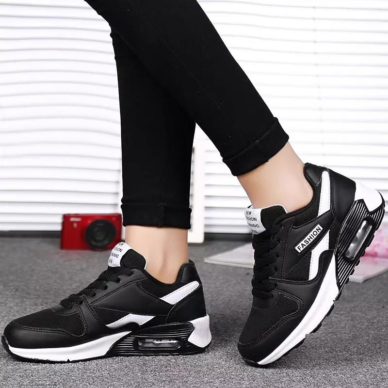 鞋女 2017 百搭 網面透氣學生 氣墊跑步鞋子