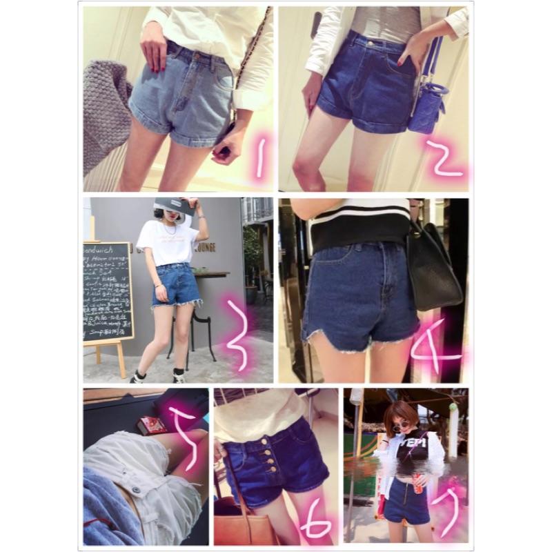 1 件250 2 件450 牛仔短褲做舊、磨破、水洗、磨白、翻邊、多口袋