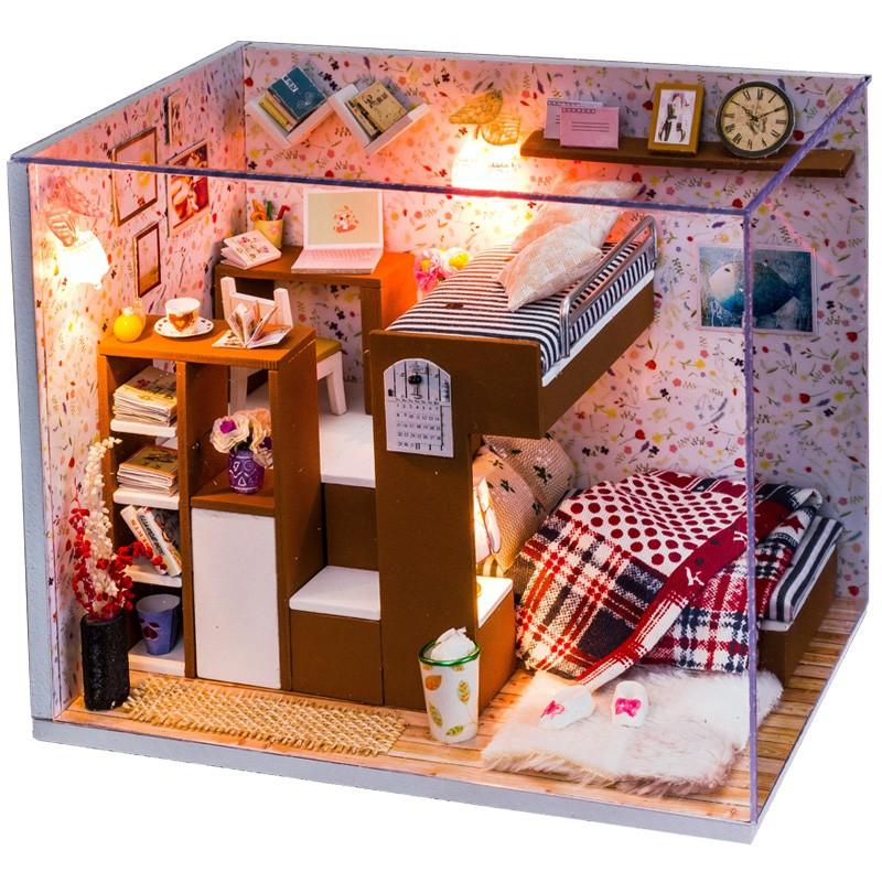 [B 036 ] 風格DIY 手作小屋! 拼裝玩具房子模型生日 聖誕節