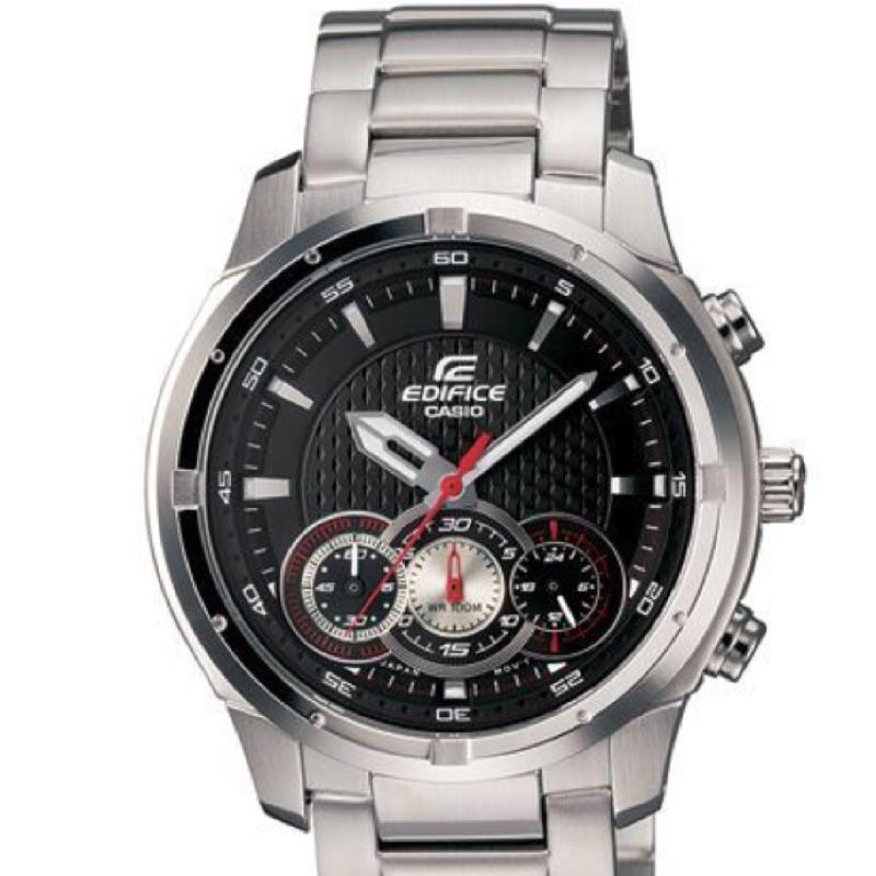 CASIO_EDIFICE 立體層次三眼賽車腕錶男錶