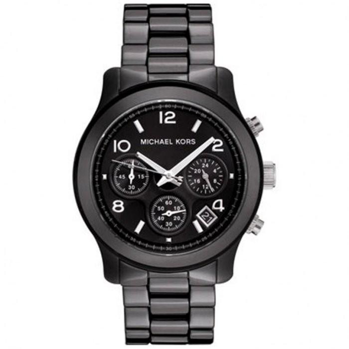 Chris Michael Kors MK 陶瓷三眼計時手錶腕錶男錶女錶MK5162 黑色