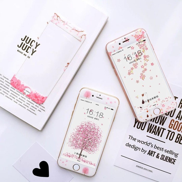 iPhone 6s iPhone 6S plus 滿版彩繪保護貼9H 螢幕貼玻璃貼螢幕保護
