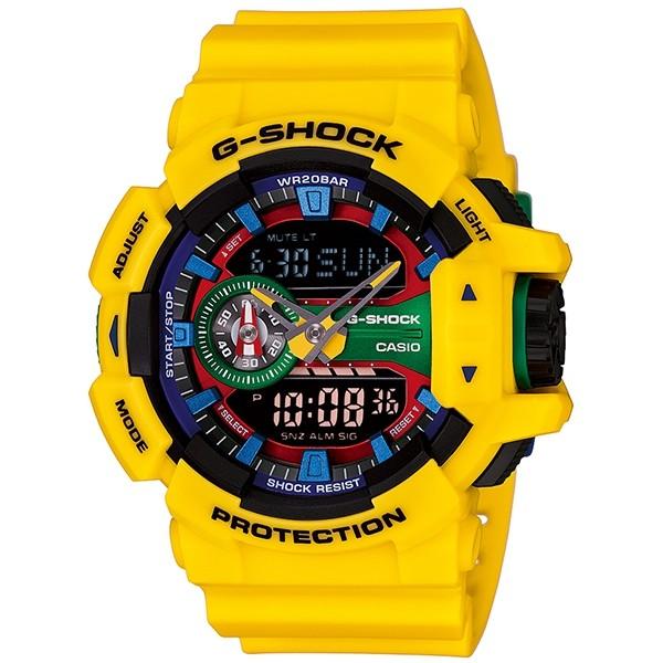 國外 CASIO G SHOCK GA 400 9A 雙顯 防水手錶腕錶電子錶男女錶樂高黃