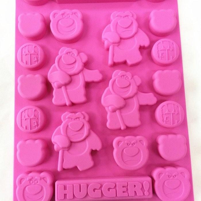 ~ ~迪士尼草莓熊抱哥玩具總動員食品級矽膠巧克力蛋糕模 皂果凍布丁模卡通冰格製冰模具DIY