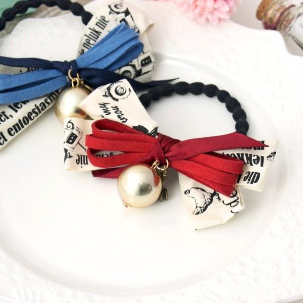 正韓空運~髮飾手環~歐式氣質蝴蝶結髮圈手鏈雙用款A811 2 色❦星晨花鑽❦