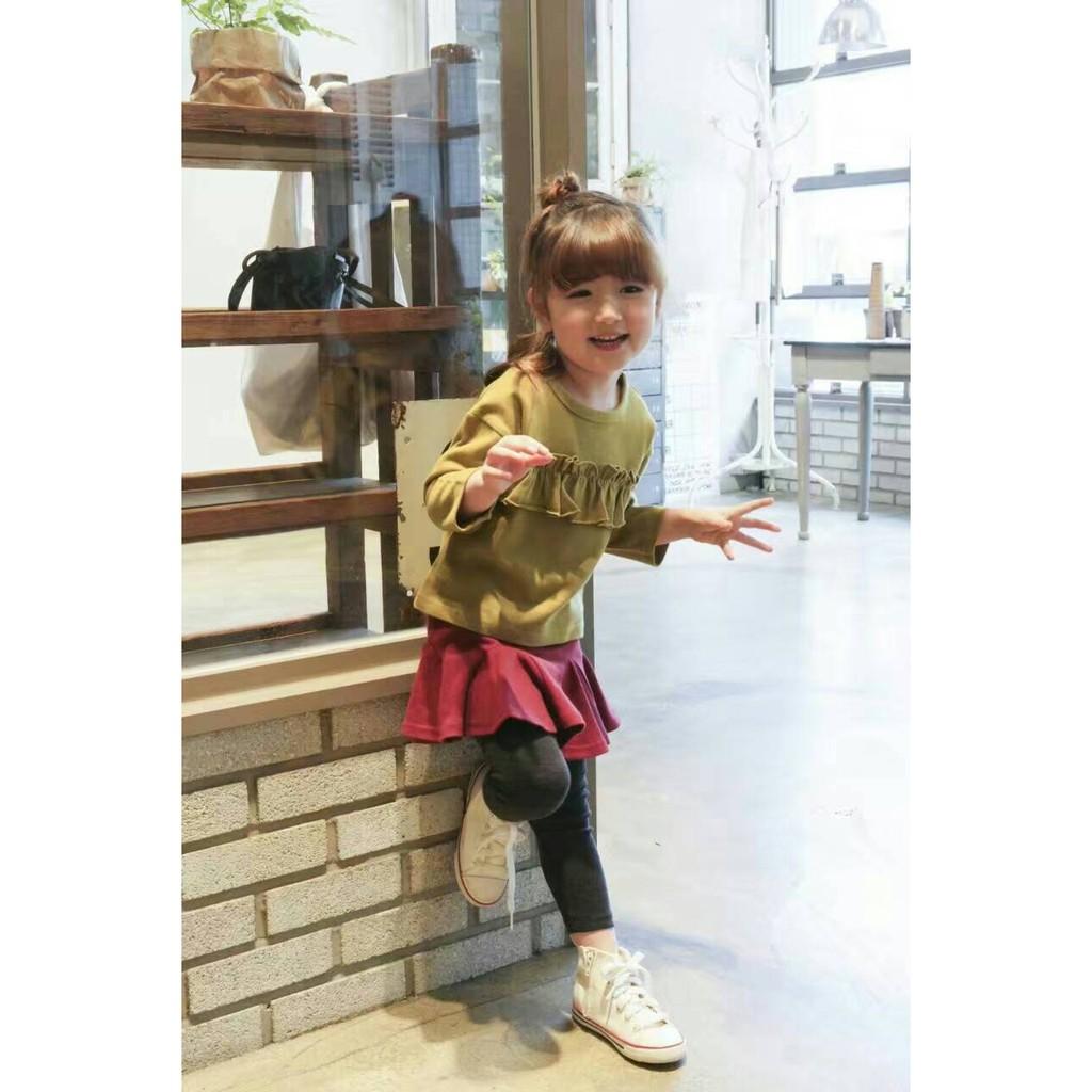 韓國 正韓空運帶回 女童 荷葉 長袖上衣♡HELLO BABY ♡