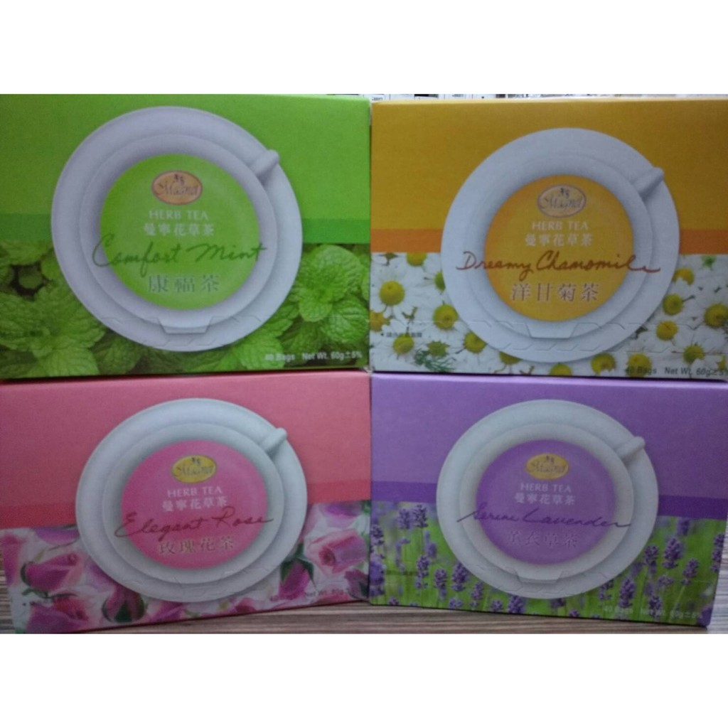德國曼寧健康花草茶40 入x2g 沉靜洋甘菊茶康福茶玫瑰花茶薰衣草茶可 其中1 種口味