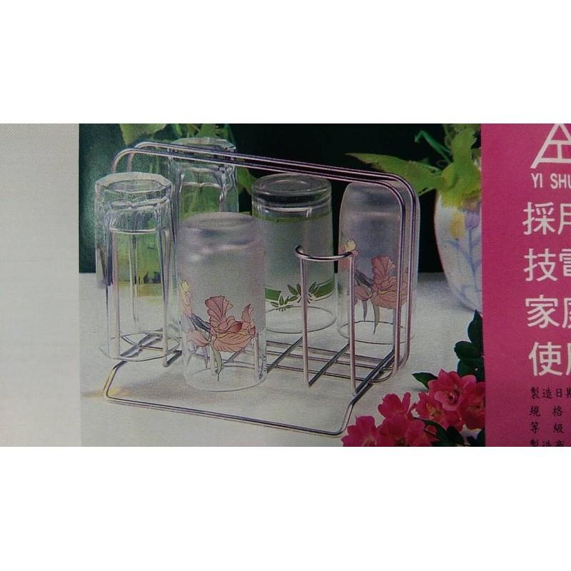 k 840 不鏽鋼杯架附滴水盤滴水架水杯架瀝水架玻璃杯馬克杯咖啡杯