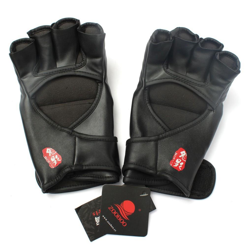 新MMA UFC 拳擊皮手套黑色