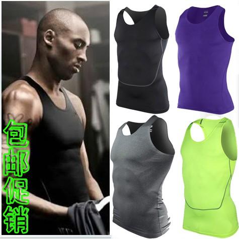 新品 PRO 科比背心彈力 緊身衣男球衣籃球訓練服汗背心跑步