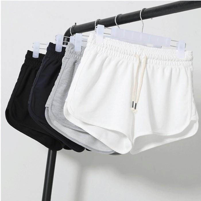 部分 實量一件 居家薄款高腰 跑步休閒寬鬆短褲2X 372255