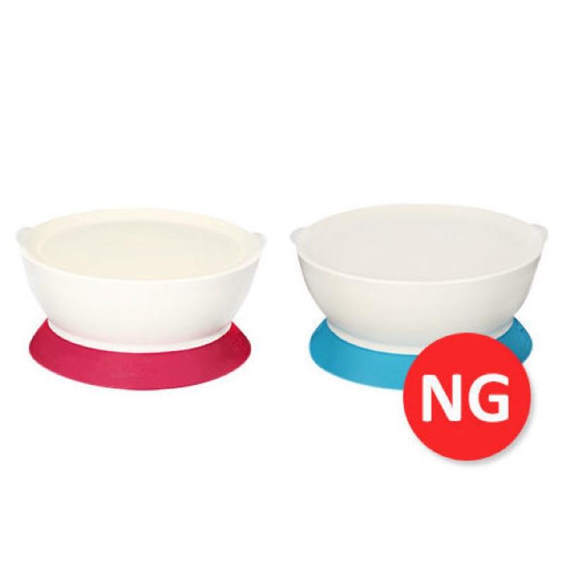 請勿下單~NG ~美國~Calibowl ~專利防漏防滑幼兒吸盤碗單入附蓋