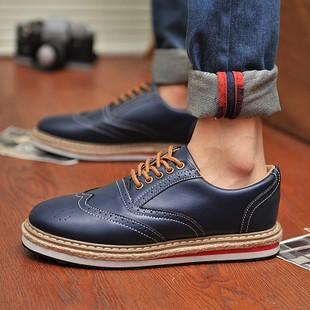 潮流指標正韓英倫風雕花牛津休閒鞋潮流青年男鞋子布洛克皮鞋 厚底潮鞋
