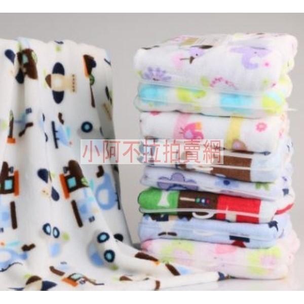 婴兒毛毯新生兒寶寶抱被法蘭絨空調毯被子